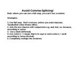 Comma-splicing elimination