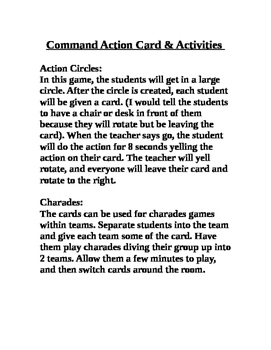 Command Action Cards & Activities