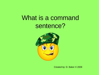 Command Sentences Power Point Presentation