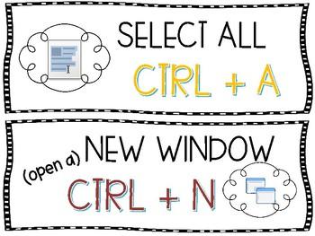 Command Shortcuts for PC's, Google Chrome & Chromebooks
