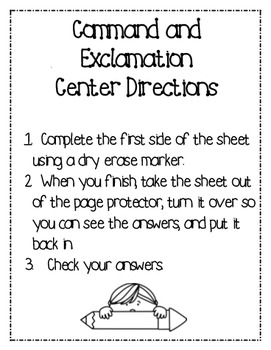 Command and Exclamation Self-Checking Center