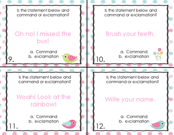 Command and Exclamation Task Cards