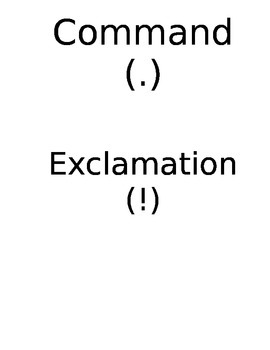 Command and Exclamation Whole Group Manipulative