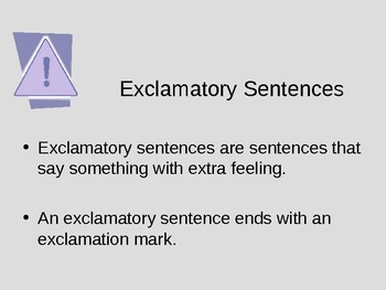 Command or Exclamation? Powerpoint