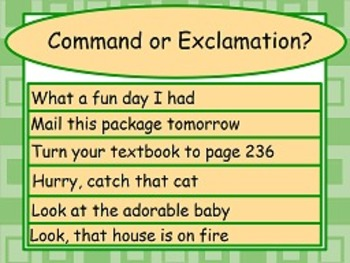 Command/Exclamations