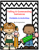 Commanding and Telling Sentences Foldable and Activities