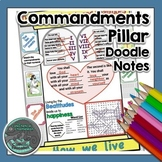 Commandments Pillar Doodle Notes