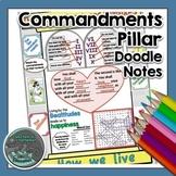 Commandments Pillar Doodle Notes