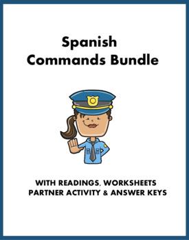Spanish Commands Bundle - Mandatos - Imperativos: tú, usted, ustedes