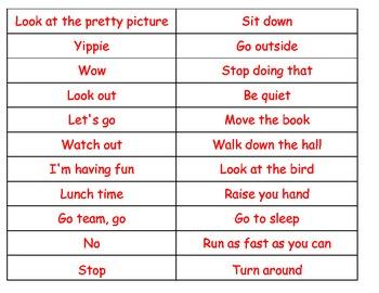 Commands Exclamation sentences cut paste sort ESL hands on COMMON CORE