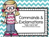 Commands & Exclamations Task Cards