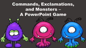 Commands, Exclamations, and Monsters - A PowerPoint Game