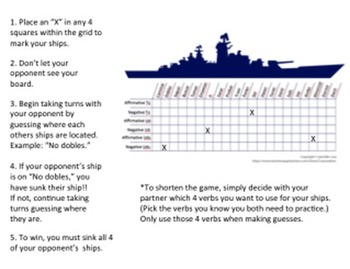 Commands Game (Informal, Formal, & Plural)