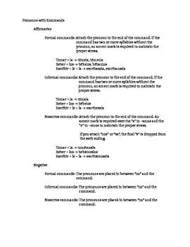 Commands Review Handout