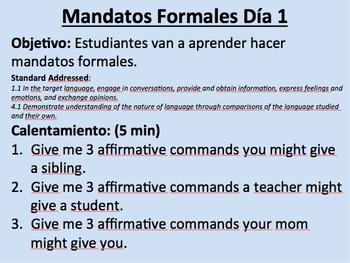 Commands Super Pack--Tú, Usted, Ustedes, and Negative Commands