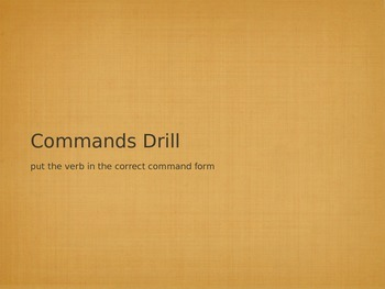 Commands Verb Drill