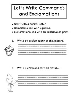 Commands and Exclamations --3 Activities