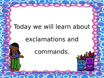 Commands and Exclamations PowerPoint