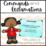 Commands and Exclamations Mini-Lesson & Activities