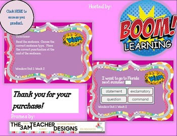 Commands and Exclamations Boom Cards