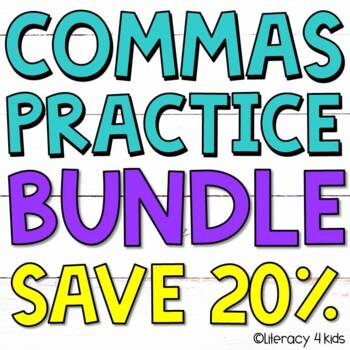 Commas: Using Commas in Dates and to Separate Single Words in a Series BUNDLE
