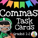Commas Task Cards for First and Second Graders
