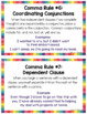 Commas Anchor Charts and Task Cards