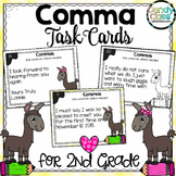 Commas Task Cards (Commas in a Letter & Commas in a Series