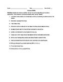 Commas Activity