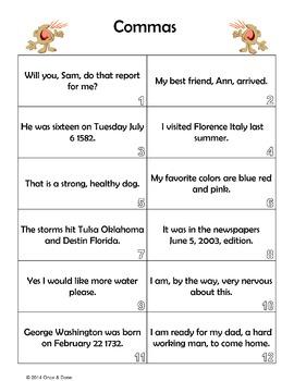 Commas, Identifying and Adding Commas Correctly to Sentences