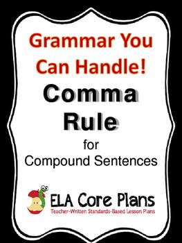Commas Before The Conjunction in Compound Sentences - Teach, Practice, Quiz