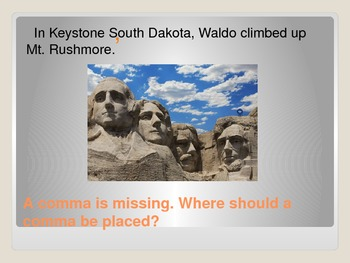Commas Between Cities and States Powerpoint : Where's Waldo the Spider?