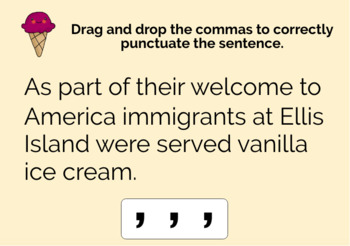 Commas Boom Cards - Distance Learning