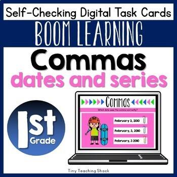 Commas Boom Cards (Digital Task Cards)