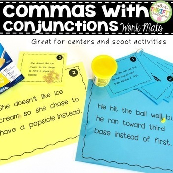 Comma Rules Centers Scoot Activity Work Mats BUNDLE