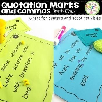 Comma Rules Centers Scoot Activity Work Mats BUNDLE ELA TEST PREP