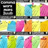 Comma Rules Centers Scoot Activity Work Mats BUNDLE ELA TEST PREP