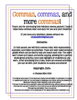 Commas, Commas, and More Commas: The 5 Rules That Make Commas Clear