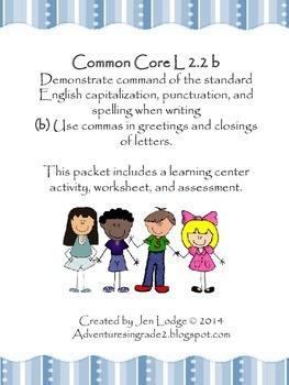 Commas ~ Common Core L 2.2b
