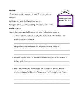 Commas, Conjunctions, & Compound Sentences
