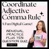Commas Coordinate Adj. Digital Game ~ Google Classroom Rea