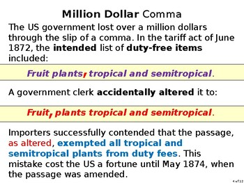 Commas, Costly & Creepy: a peek into the alarming power of misc. punctuation
