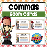 Commas Digital Boom Cards | Distance Learning