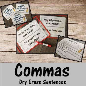 Commas- Dry Erase Sentence Practice