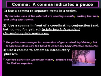 Commas, Elipses, Hyphen and Dash