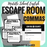 Commas - Escape Room - Middle School English
