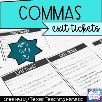 Commas Exit Tickets