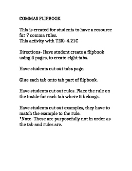 Commas Flipbook