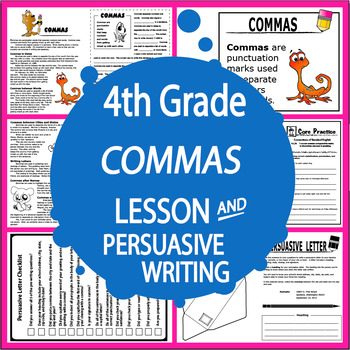 Samples of persuasive letter teaching resources teachers pay teachers commas activities lesson persuasive letter writing three commas worksheets spiritdancerdesigns Gallery