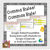 Commas - Paperless - Digital Google Lesson - CCSS L.5.2